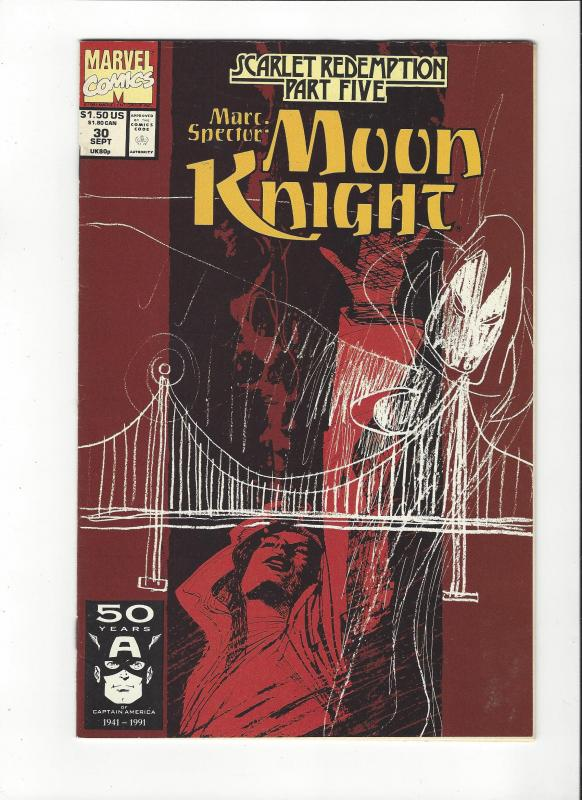 Marc Spector: Moon Knight #30 Scarlet Redemption NM