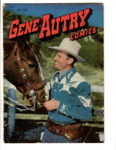 Gene Autry Comics # 10 VG/FN Dell Golden Age Comic Book Western Photo Cover JL10