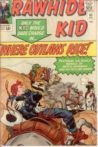 RAWHIDE KID (1960-1979) 43 VG-F  December 1964 COMICS BOOK