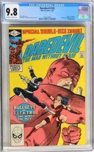 Daredevil #181 (CGC Graded 9.8 Death of Elektra