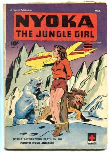 Nyoka The Jungle Girl  #7 1947- Fawcett Golden Age-North Pole Jungle VG