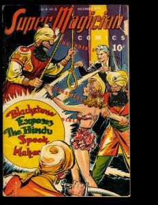 Super Magician Comics Vol. # 4 # 8 VG 1944 Golden Age Comic Book Demons NE3