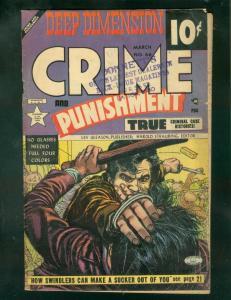 CRIME AND PUNISHMENT #66 1953-CHARLES BIRO & ALEX TOTH VG-