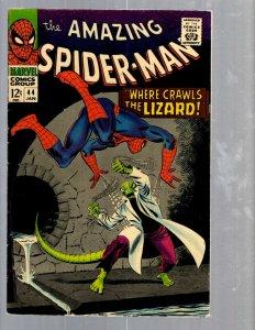 Amazing Spider-Man # 44 FN Marvel Comic Book Lizard Vulture Goblin Scorpion TJ1
