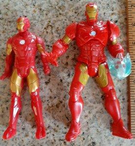 """2012 Hasbro Marvel Legends Iron Man 6.5"""" Action Figure + bonus figure used"""