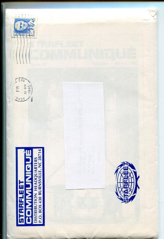 STARFLEET COMMUNIQUE-STAR TREK FANZINE-1990-5 1/2 X 9-#37-#39-#38-nm