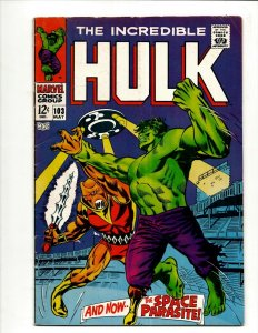 Incredible Hulk # 103 FN/VF Marvel Comic Book Iron Man Captain America Thor BJ1