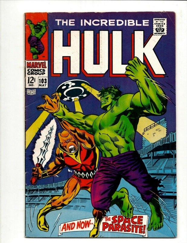 Incredible Hulk # 103 FN/VF Marvel Comic Book Iron Man Captain America Thor BJ1