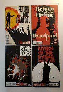 Return Of The Living Deadpool #1-4 NM/MT 9.6-9.8 Complete Set Marvel Comics 2015