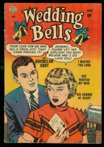 WEDDING BELLS #2 1954-QUALITY COMIC-ROMANCE-WHITNEY ART G/VG