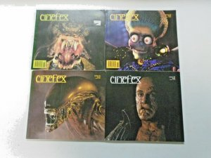 Cinefex Monsters Lot 4 Different Average 6.0 FN (1989-1997)