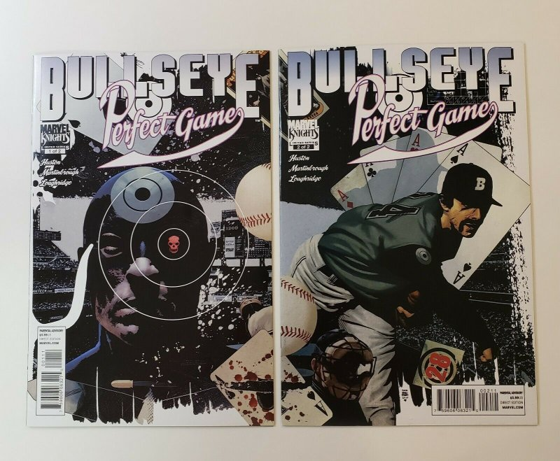 BULLSEYE: PERFECT GAME #1-2 COMPLETE SET MARVEL KNIGHTS 2011 NM