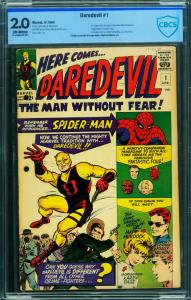 Daredevil #1 2.0 CBCS 1964 First appearance Marvel Comics