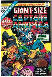 GIANT-SIZE CAPTAIN AMERICA #1, FN, Jack Kirby, 1975, more CA in store