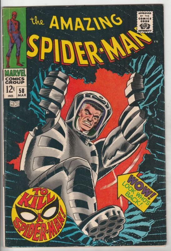 Amazing Spider-Man #58 (Mar-68) FN Mid-Grade Spider-Man