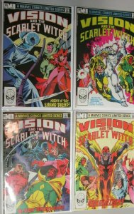 Vision and The Scarlet Witch 1st series set:#1-4 avg 7.0 (range 6.0-8.0) (1982)