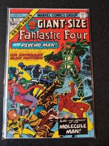 FANTASTIC FOUR GIANT SIZE #5 MARVEL 1975 BLACK PANTHER INHUMANS !