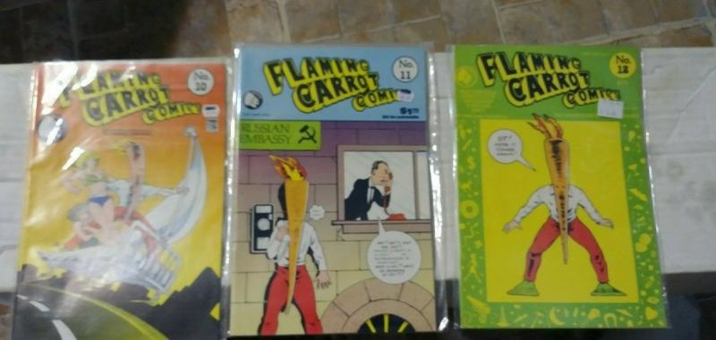 flaming carrot comics # 10 11 12  1985 renegade bob burden
