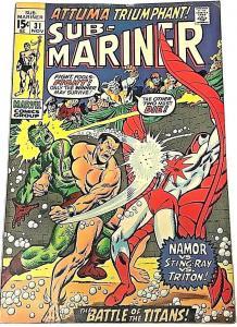SUB-MARINER#31 VG 1970 MARVEL BRONZE AGE COMICS