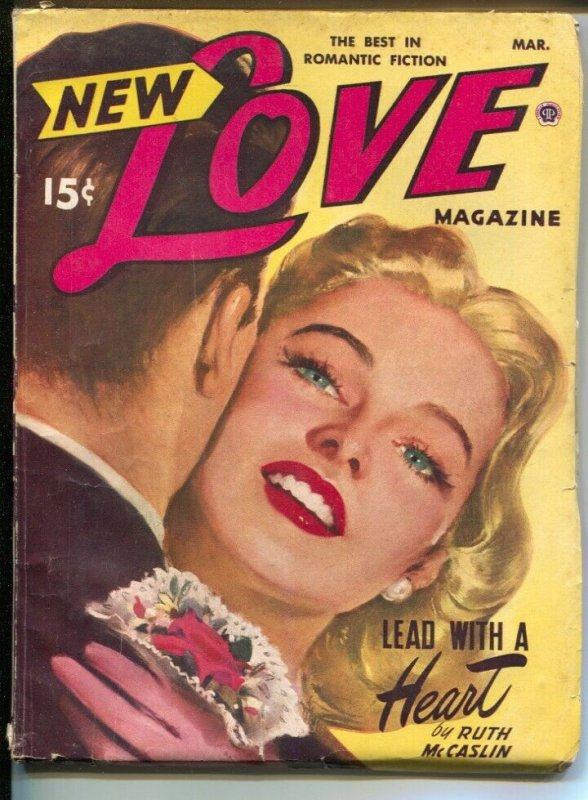 New Love 3/1950-female pulp authors-pin-up girl cover art-VG