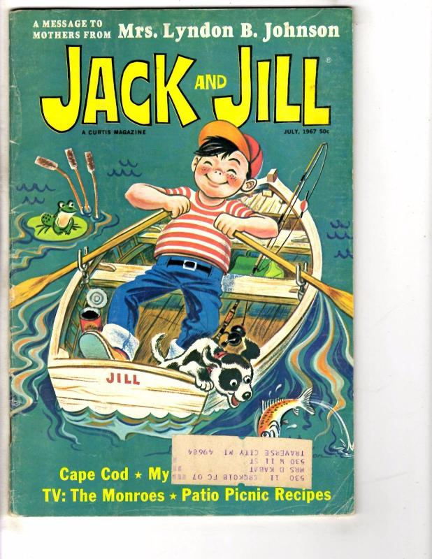 5 Jack And Jill Story Book Activity Magazines July Aug. Sept. Oct. Nov. 1967 DK1