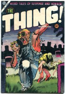 THING! #16 1954-CHARLTON COMICS-INJURY TO EYE-CANNIBALS FN-