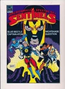AMERICOMICS #1, SENTINELS of JUSTICE Blue Beetle, Cptn Atom 1983 ~ VF/NM (HX310)