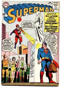 Superman #168 1964-dc Comics-lex Luthor Statue- Crime Fn/vf