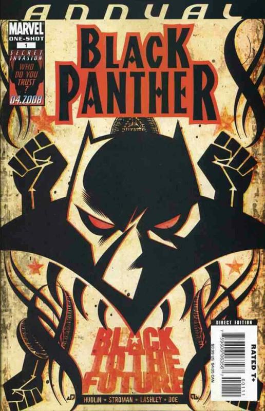 BLACK PANTHER ANNUAL (2008 MARVEL) #1 NM- AGSQLV