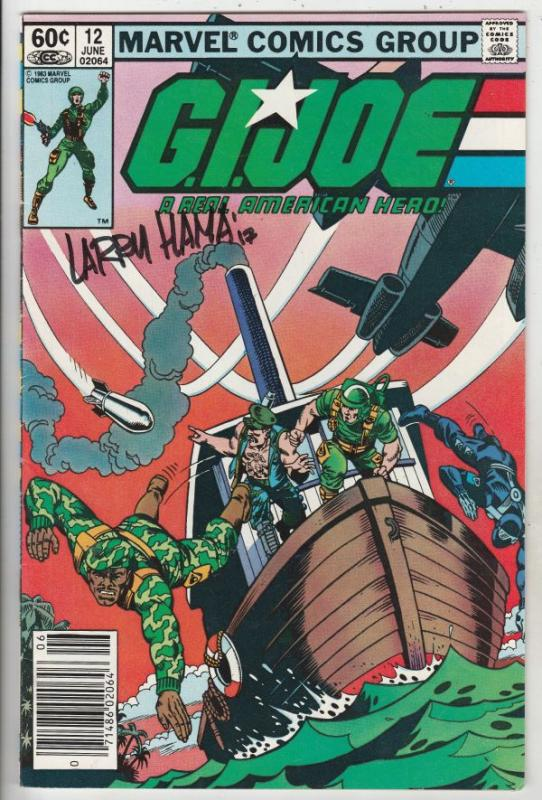 G.I. Joe signed #12 (Jun-83) VF/NM High-Grade G.I. Joe