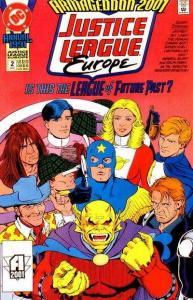 Justice League Europe Annual #2, VF+ (Stock photo)