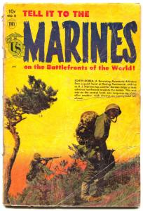 Tell it to the Marines #8 1954- Photo cover- Golden Age War comic FAIR
