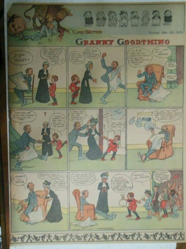 Granny Goodthing Sunday Page by Follett  from 5/22/1910 Full Page Size!