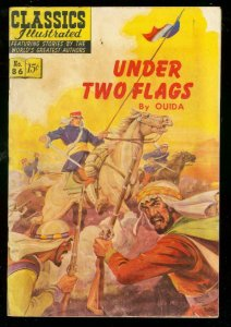 CLASSICS ILLUSTRATED #86 HRN 87-UNDER TWO FLAGS-LEGION VG+