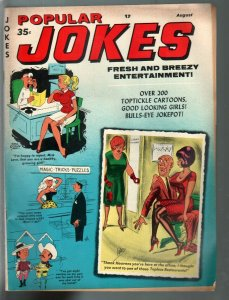 Popular Jokes 8/1970-Marvel-Dan De Carlo-Bill Ward-spanking-cheesecake pix-FN+