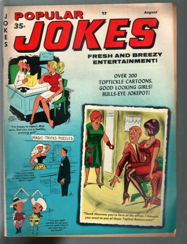Popular Jokes 8/1970-Marvel-Dan De Carlo-Bill Ward-spanking-cheesecake pix-FN+