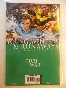 YOUNG AVENGERS AND RUNAWAYS # 2 MARVEL CIVIL WAR ACTION ADVENTURE