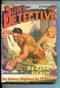 SUPER-DETECTIVE-#1-OCT 1940-PULP FICTION-SOUTHERN STATES PEDIGREE-vf minus