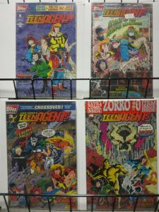 TEENAGENTS, JACK KIRBYS (1993 TOPPS) 1-4 WALT SIMONSON