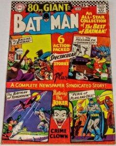Batman #187 (VG/F) 1966 Joker 80 Page Giant Silver Age DC ID#44A