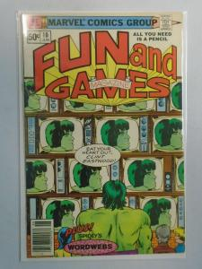 Marvel Fun and Games #10 featuring Hulk 4.0 VG (1980)