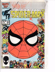 Marvel Comics (1985) Web of Spider-man #20 Marc Silvestri Art John Romita Cover