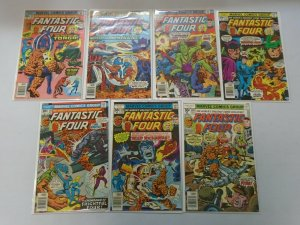 Fantastic Four lot 14 different 30c covers from #174-187 avg 6.0 FN (1976-77)