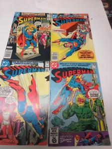 Superman 342-343, 345, 358 FN 1979-80 British cover price variant DC Comics