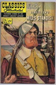 Classics Illustrated Miles Standish #92 HRN 165 ORIGINAL Vintage Comic Book