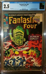 Fantastic Four #49 (Marvel 1966) 1st Full Galactus 2nd Silver Surfer CGC 2.5 GD+