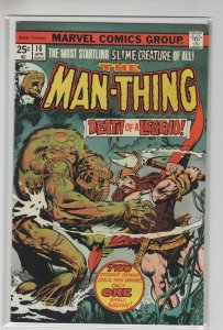 MAN-THING (1974 MARVEL) #16 FN+ A99856
