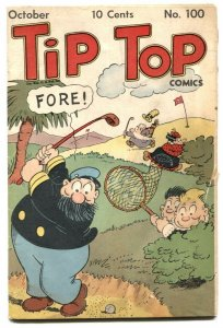 Tip Top Comics #100 1944- Captain and the Kids- Golf cover G