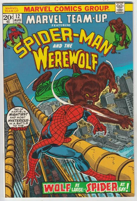 Marvel Team-Up #12 (Aug-72) NM- High-Grade Spider-Man