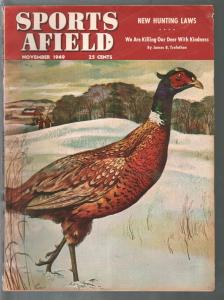 Sports Afield 11/1949-George Englers cover-hunting-fishing-pix-ads-info-FN